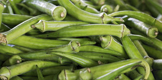 Okra available for sale in street market Royalty Free Stock Image