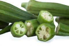 Okra close-up Stock Photo