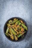 Okra curry'ego przepis obraz stock