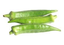 Okra. Fresh okra over white background Stock Photography