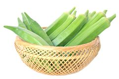 Okra fruit Stock Photos