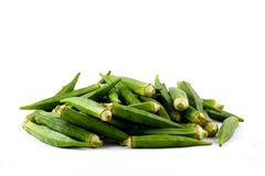 Okra heap Stock Image