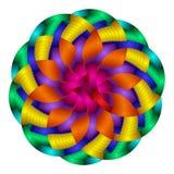 okrąża kolorowego gradient Obrazy Royalty Free