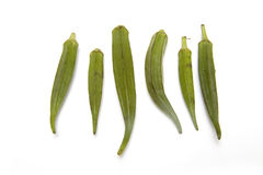 Okra or ladies fingers Stock Images