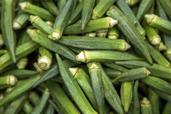 Okra on the market Stock Image