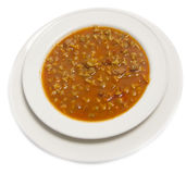 Okra meal with minced meat stock images