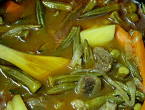 Okra stew Stock Photography