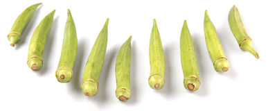 Okra Vegetables II Royalty Free Stock Images