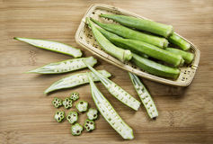 Okra vegetables Royalty Free Stock Photo