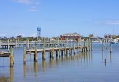 Okracoke-Hafen stockbild