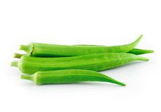 Okras on white background Royalty Free Stock Photos