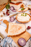 Okrasy rozszerzanie się na domowym piec chlebie Obraz Royalty Free