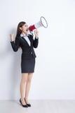 określeń sfrustowana biznesowego krzyczy kobieta Obraz Royalty Free