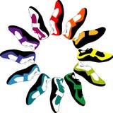 okregów buty royalty ilustracja