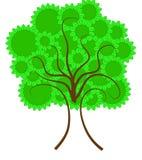 okregów liść drzewo Obraz Stock