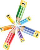Okregów ołówki Fotografia Stock