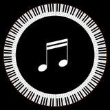 Okrąg Fortepianowi klucze Zdjęcia Stock