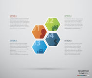 Okrąg infographic Obrazy Royalty Free
