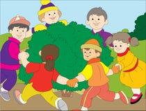 okręgu dzieciaków bawić się Zdjęcie Stock