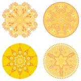 Okręgu ornament, ornamentacyjna round koronki kolekcja Fotografia Royalty Free