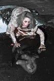okropna kobieta Zdjęcie Royalty Free