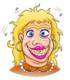 okropna kobieta ilustracja wektor
