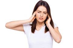 Okropna migrena Zdjęcie Stock