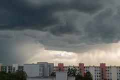 Okropna pogoda w Monachium, Neuperlach - obraz stock