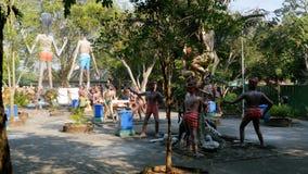 Okropne statuy od piekła przedstawia ludzkie rozpusty w świątyni Eden i piekło Tajlandia zbiory