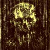 Okropny czaszki tło w małych gruzy royalty ilustracja