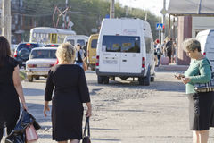 okropny warunek drogowa powierzchnia na transporcie publicznym Obraz Stock