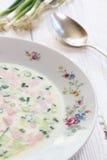 Okroshka  is a cold soup Stock Image