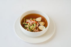 Okroshka soup with kvass Royalty Free Stock Photo