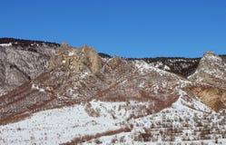 The Okrostsihe - Golden Fortress in winter, Georgia Stock Photos