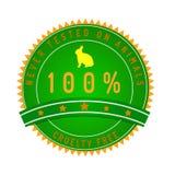 Okrucieństwo gwaranci bezpłatna odznaka odizolowywająca na bielu Zdjęcia Royalty Free