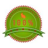 Okrucieństwo gwaranci bezpłatna odznaka odizolowywająca na bielu Obraz Stock
