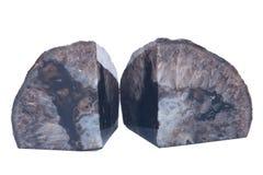 Okrzesana czarna agat geody podpórka Zdjęcia Stock