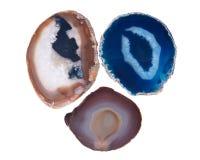 Okrzesani kolorowi agatów kamienie Zdjęcie Stock