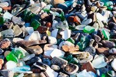 Okrzesani szkło kamienie Zdjęcia Stock