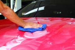 Okrzesany i narzut wosku samochód Fotografia Stock