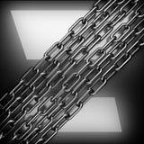 Okrzesany metalu tło 3d odizolowywający odpłacający się wideo biały świat Zdjęcia Royalty Free