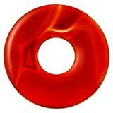 Okrzesany okrąg od brown naturalnego agata gemstone Obraz Stock