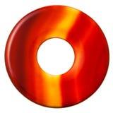 Okrzesany pączka kształta okrąg od pasiastego agata klejnotu Obrazy Royalty Free