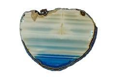 Okrzesany plasterek agata kamienia kryształ Obrazy Royalty Free