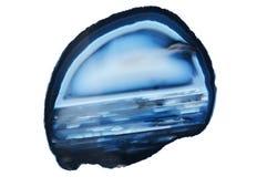 Okrzesany plasterek błękitny agata gemstone Zdjęcie Stock