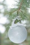 Okrzesany srebny kolorów bożych narodzeń ornament jako Santa Fotografia Royalty Free