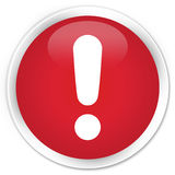 Okrzyk oceny ikony premii czerwony round guzik Zdjęcia Royalty Free