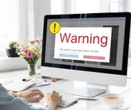 Okrzyka ostrzeżenia ostrożności Podręczny pojęcie obrazy royalty free