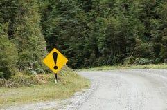 Okrzyka ruchu drogowego znak Obrazy Royalty Free