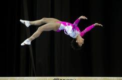 Oksana Chusovitina. Germany's Oksana Chusovitina during a qualifying competition for the 2012 Olympic games in London England Royalty Free Stock Image